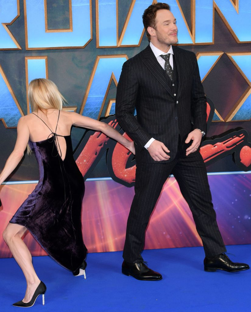 Mandatory Credit: Photo by David Fisher/REX/Shutterstock (8627514o) Chris Pratt and Anna Faris 'Guardians of the Galaxy Vol.2' film premiere, Arrivals, Hammersmith Apollo, London, UK - 24 Apr 2017