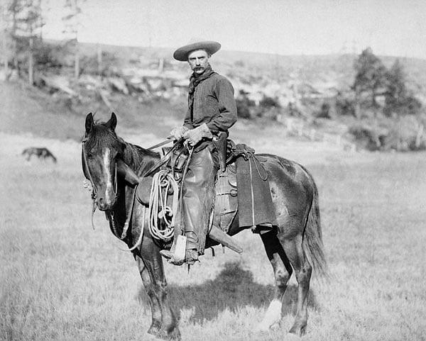 Old west cowboy