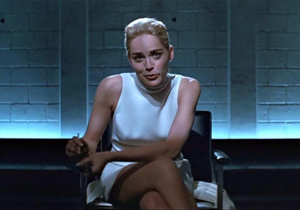 Sharon Stone Leg Crossover Pause