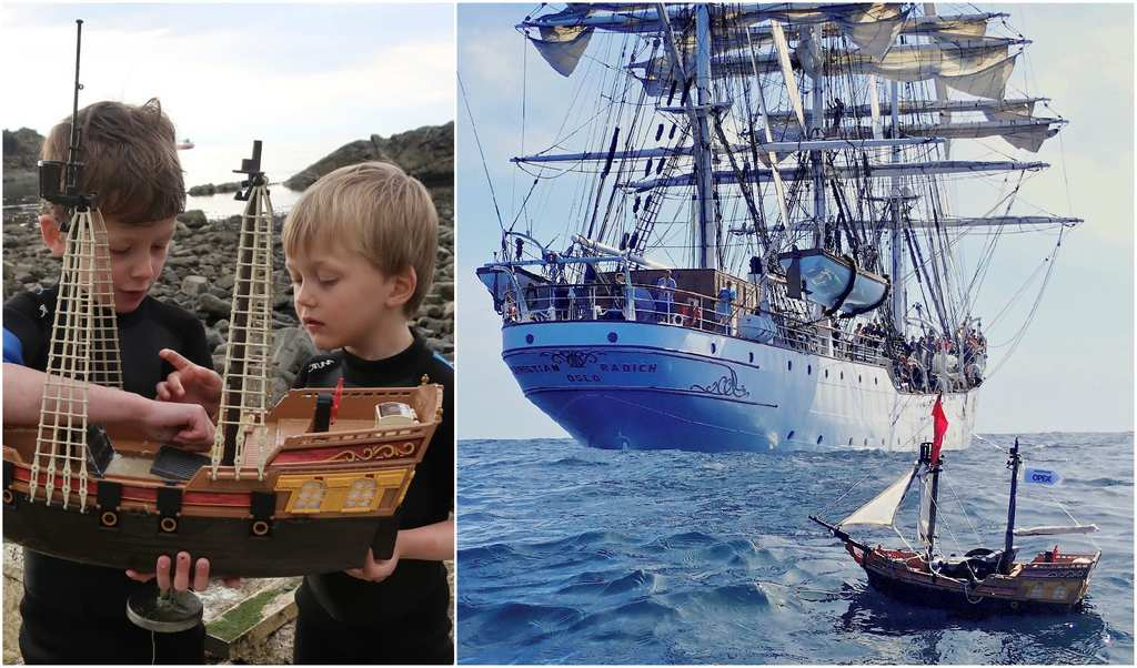 Two Brothers Send GPS Toy Ship From Scotland To America