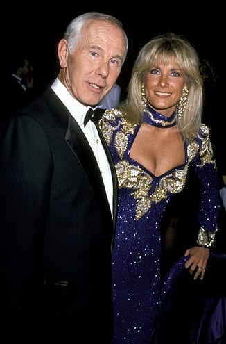 Alexis Maas with her late husband Johnny Carson