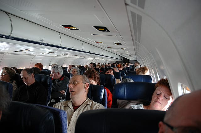 airplane sleeping