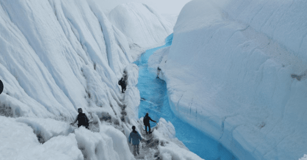 ice hiking