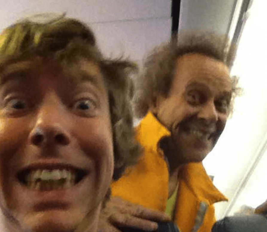 plane selfie