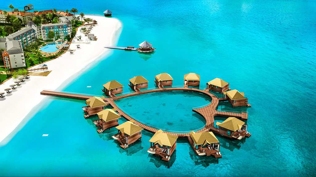 Jamaican Resort Has Over The Water Bungalows With Glass Floors