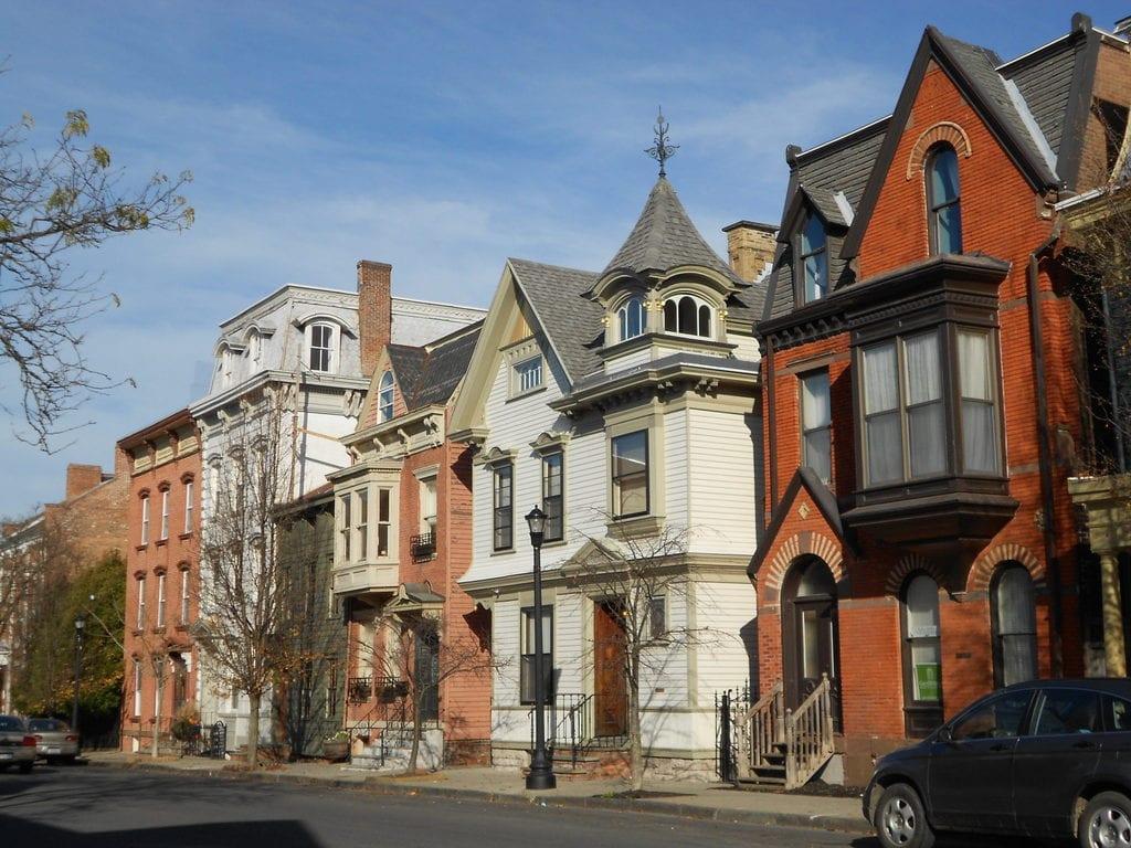 Street in Hudson, New York