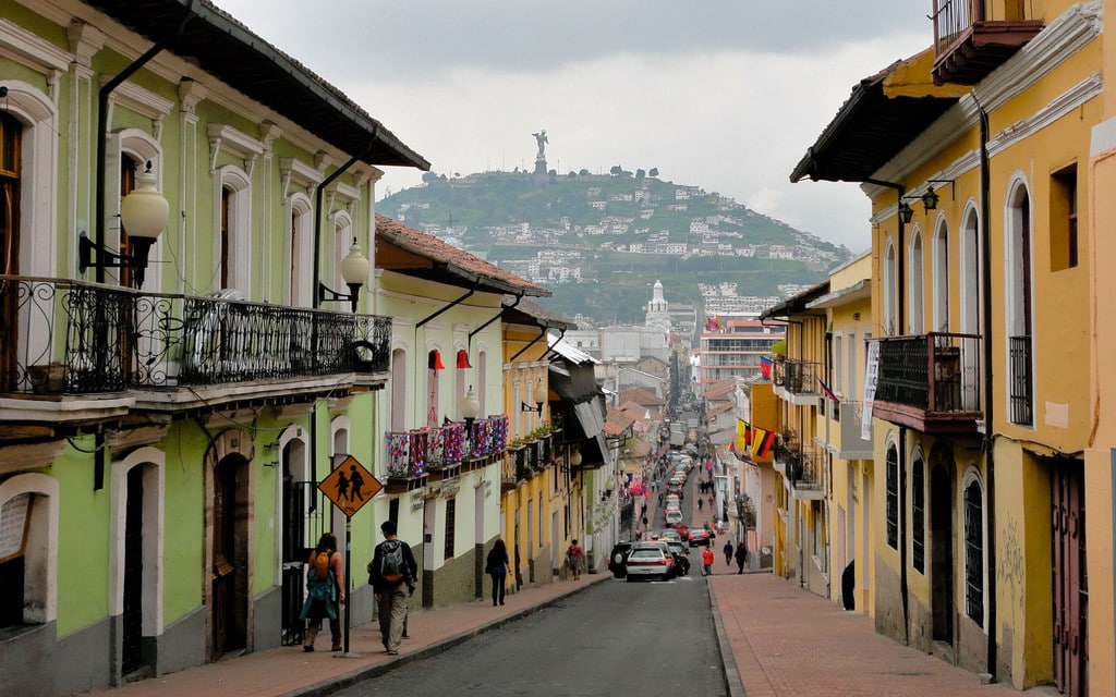 Street in Quito's Historic Center