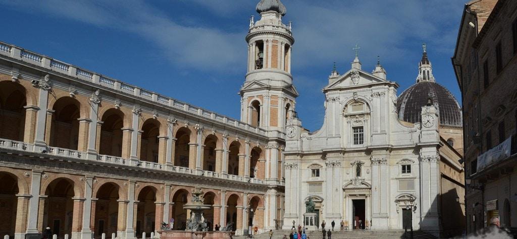 The Basilica della Santa Casa in Loreto, Italy