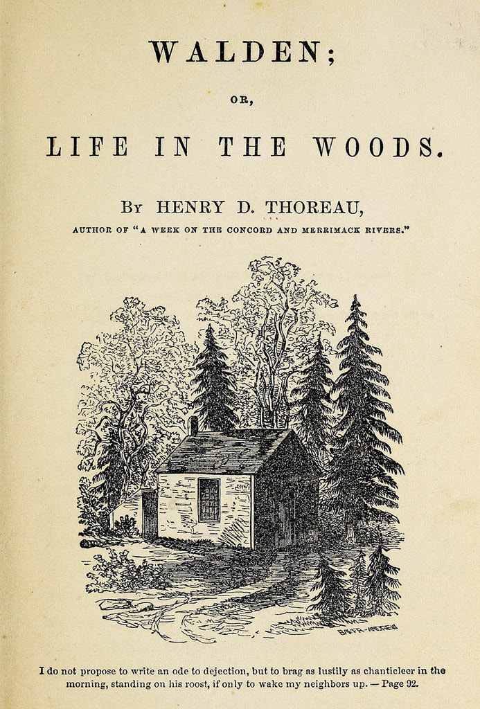 Front page of the book Walden by Henry David Thoreau
