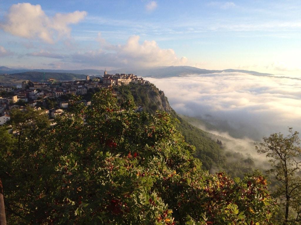 Aerial photography of Castropignano