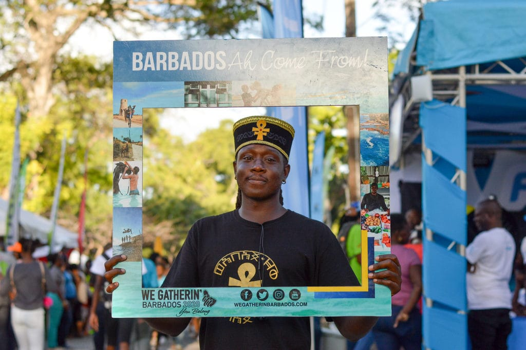 Barbados local pictured on a We Gatherin' 2020 frame