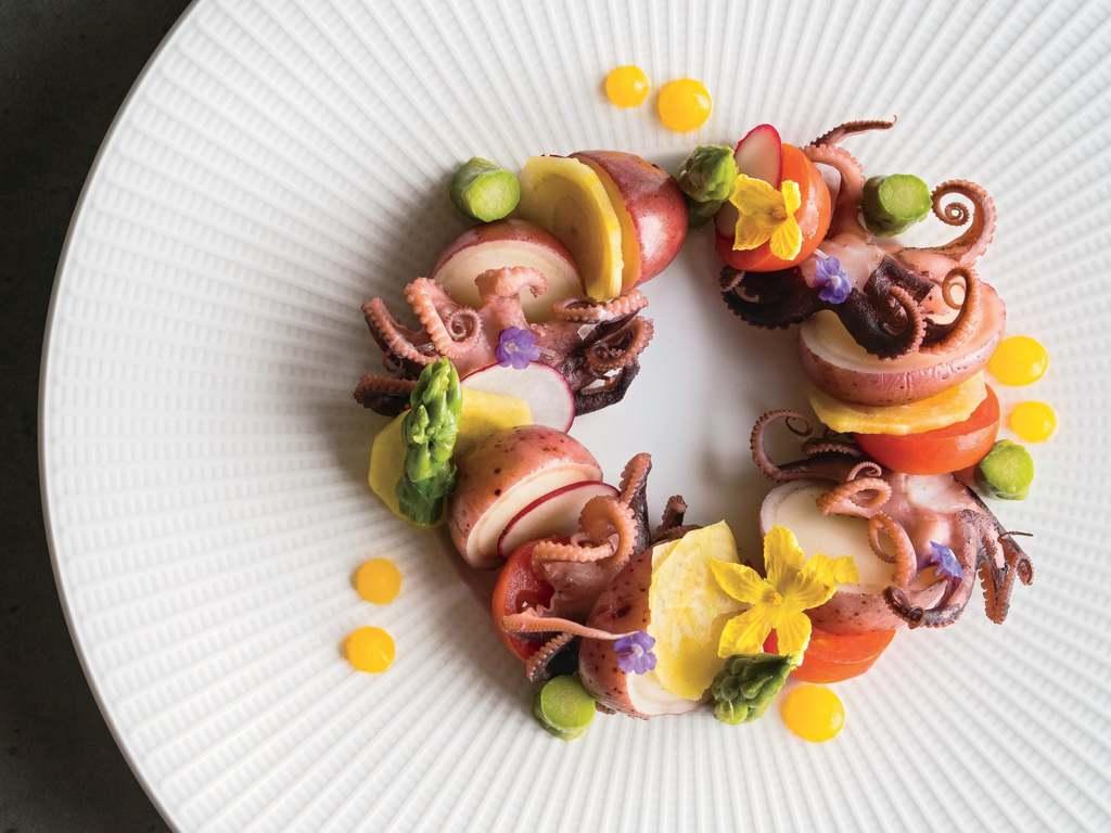 Barbados octopus salad