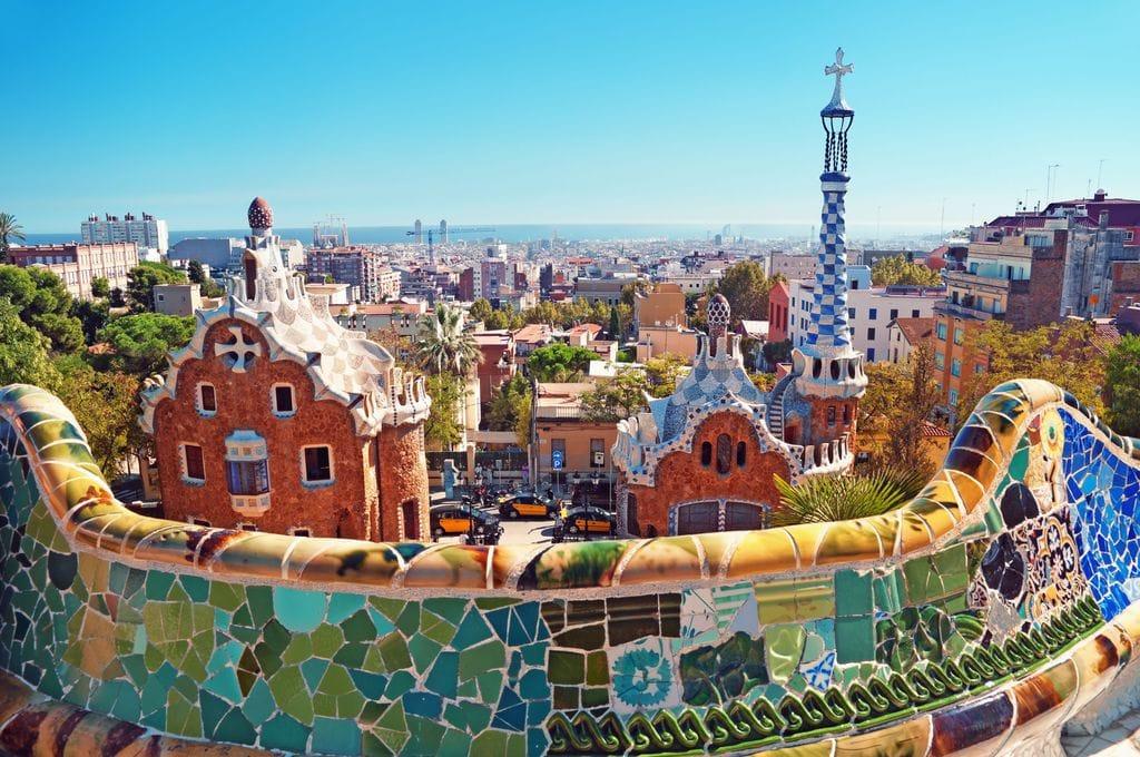 Park Güell, a public park in Barcelona designed by the renowned Catalan architect Antoni Gaudí