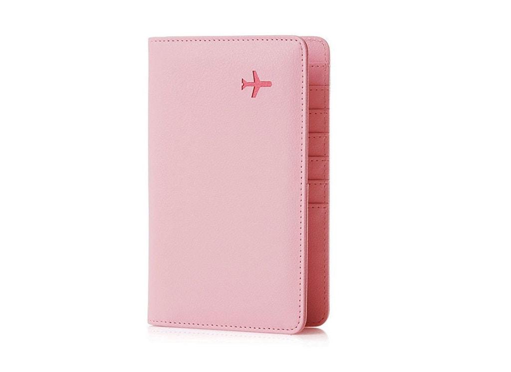 A pink passport holder