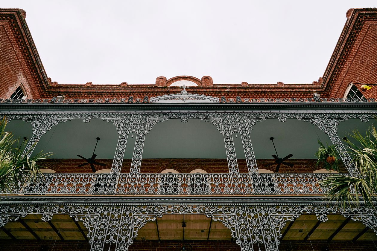 Hotel Saint Vincent's exterior and its handwrought iron balconies.